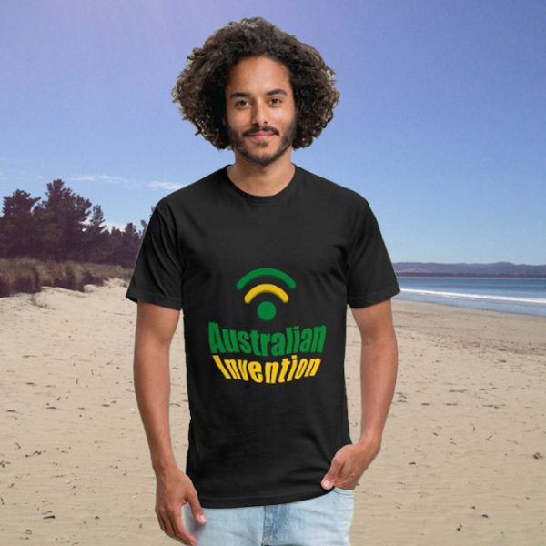 Australian Invention Wifi - Men's Black T-shirt