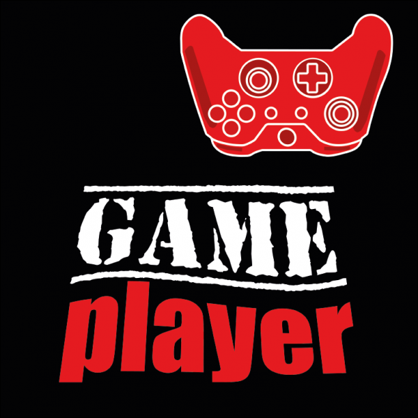 Game player Red Controller T-shirt design