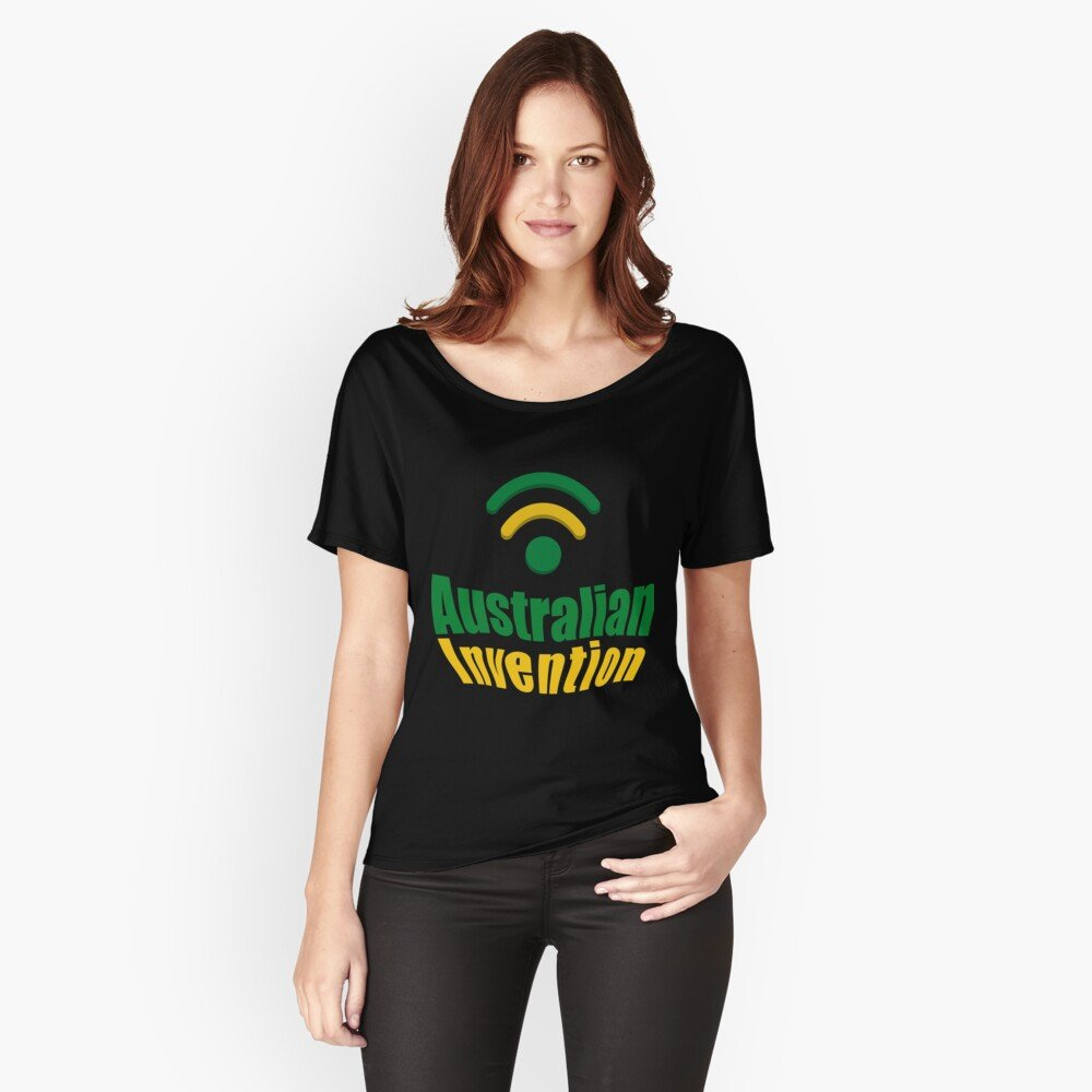 Australian Invention Wifi Women S Relaxed Fit T Shirt Three Brains A tee that gives you a cropped, lightweight look that wicks sweat & lets you move freely. three brains