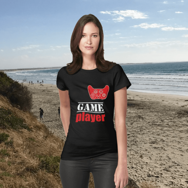 Game player - Red Controller - Women's Fitted T-shirt - Redbubble