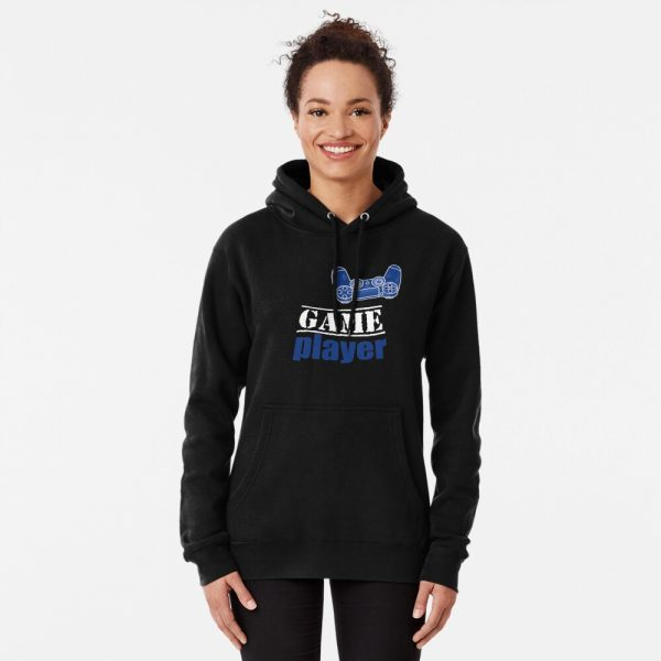 Game player - Blue Controller - Women's Hoodie Pullover - Redbubble